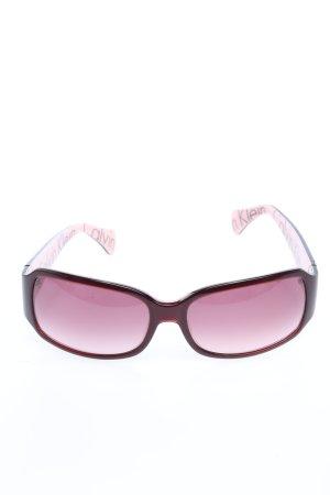 Calvin Klein Kwadratowe okulary przeciwsłoneczne Wydrukowane logo