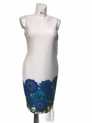 Calvin Klein Etui Kleid Weiß Blau 34 (4) S