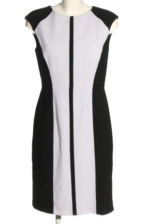 Calvin Klein Etuikleid weiß-schwarz Casual-Look