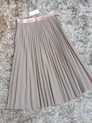 Calvin Klein Plisowana spódnica beżowy-camel