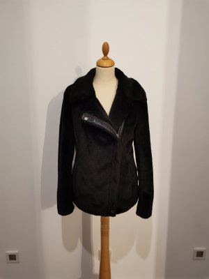 Calvin Klein Faux Fur Jacke Kurzmantel in schwarz