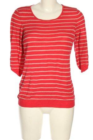 Calvin Klein Feinstrickpullover rot-wollweiß Streifenmuster Casual-Look