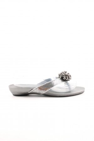 Calvin Klein Flip-Flop Sandals silver-colored casual look