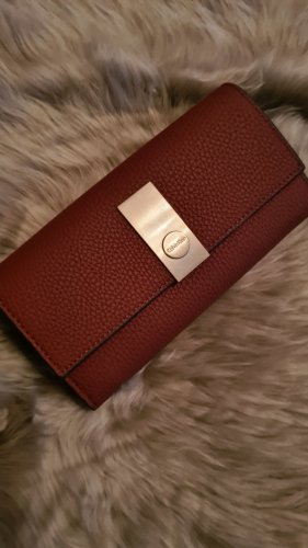 Calvin Klein Portmonetka brązowy-cognac