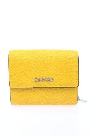 Calvin Klein Geldbörse blassgelb Allover-Druck Casual-Look