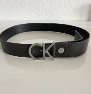 Calvin Klein Skórzany pasek czarny