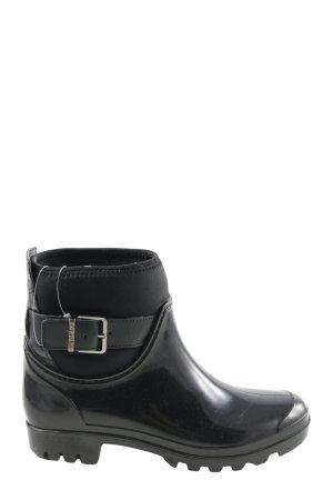 Calvin Klein Botte en caoutchouc noir style décontracté