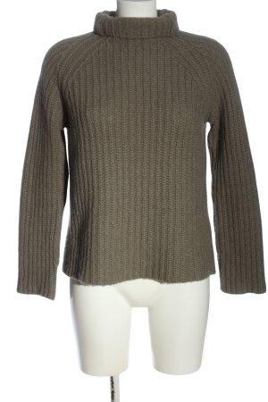 Calvin Klein Szydełkowany sweter khaki Melanżowy W stylu casual