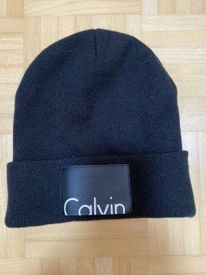Calvin Klein Gebreide Muts zwart-wit