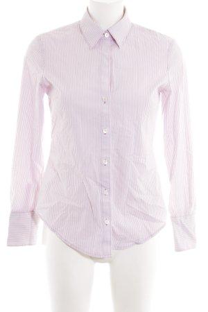 Calvin Klein Hemd-Bluse weiß-lila Streifenmuster Business-Look