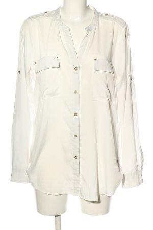 Calvin Klein Hemd-Bluse wollweiß Business-Look