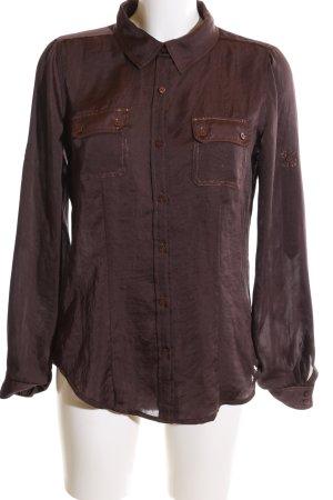 Calvin Klein Hemd-Bluse bronzefarben Casual-Look