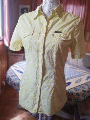 Calvin Klein Jeans Koszula z krótkim rękawem biały-bladozielony Bawełna