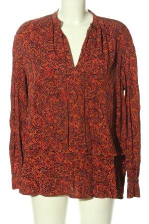 Calvin Klein Hemd-Bluse rot-schwarz abstraktes Muster Casual-Look