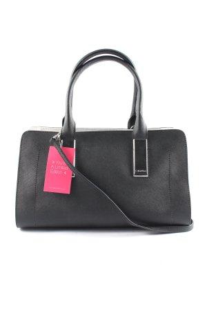 Calvin Klein Henkeltasche schwarz-silberfarben Business-Look