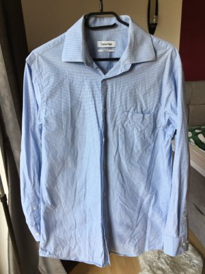 Calvin Klein Herrenhemd blau klein kariert regular fit
