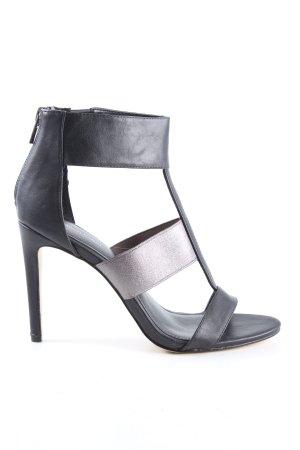 Calvin Klein High Heel Sandaletten schwarz-silberfarben Casual-Look