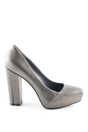 Calvin Klein High Heels silberfarben Allover-Druck Elegant