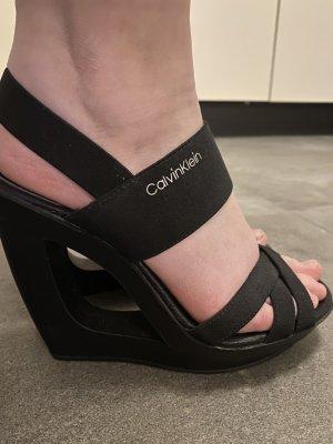 Calvin Klein High Heels Gr. 38 Schwarz