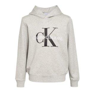 Calvin Klein Capuchon sweater lichtgrijs