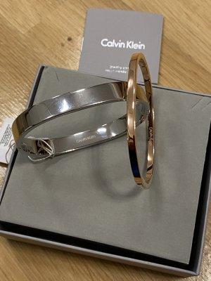 Calvin Klein Jonc argenté-or rose