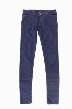 Calvin Klein Trousers blue-neon blue-dark blue-azure cotton