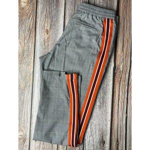 Calvin Klein Pantalón de pinza gris-naranja neón Algodón