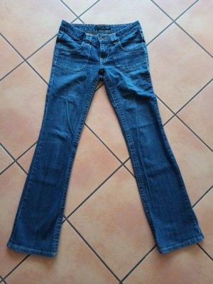 Calvin Klein Jeans a gamba dritta blu-blu scuro