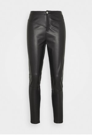 Calvin Klein Jeans Leather Trousers black