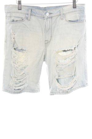 Calvin Klein Jeans 3/4-Hose wollweiß-blau Used-Optik