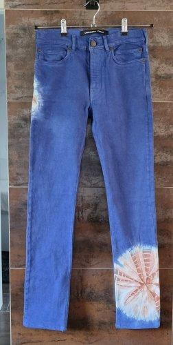 Calvin Klein Jeansy typu boyfriend jasnoniebieski-niebieski neonowy Bawełna