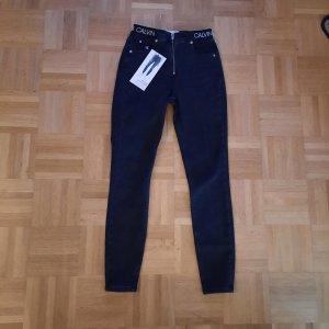 Calvin Klein Jeans Hoge taille jeans zwart
