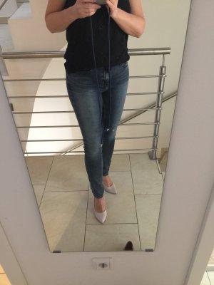 Calvin Klein Jeans Pantalon cigarette bleu