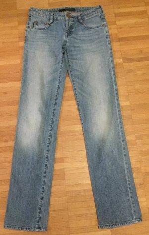Calvin Klein Jeansy o kroju boot cut chabrowy-stalowy niebieski