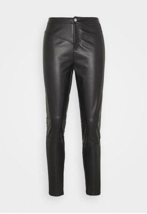 Calvin Klein Jeans Skórzane spodnie czarny