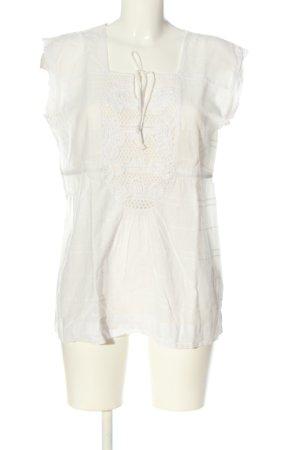 Calvin Klein Jeans ärmellose Bluse weiß Casual-Look