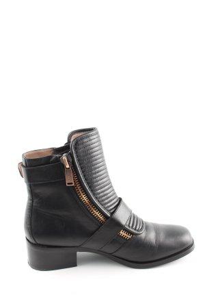 Calvin Klein Jeans Enkellaarzen zwart gestreept patroon casual uitstraling