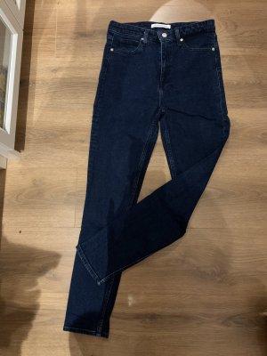 Calvin Klein Jeans Jeans cigarette bleu foncé-bleu