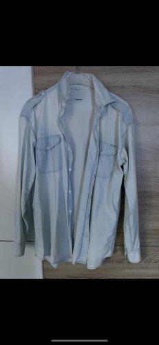 Calvin Klein Jeansowa koszula błękitny