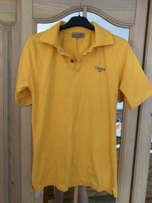 Calvin Klein Jeans Colletto camicia arancione chiaro-giallo-oro