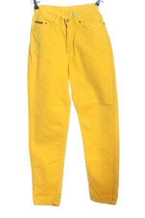 Calvin Klein Jeans Boyfriendjeans blassgelb Casual-Look