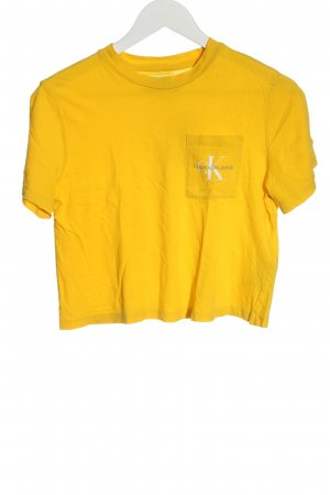 Calvin Klein Jeans Koszula o skróconym kroju jasny pomarańczowy W stylu casual