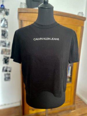 Calvin Klein Jeans Crop-top noir coton