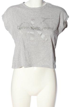 Calvin Klein Jeans Cropped Shirt hellgrau meliert Casual-Look