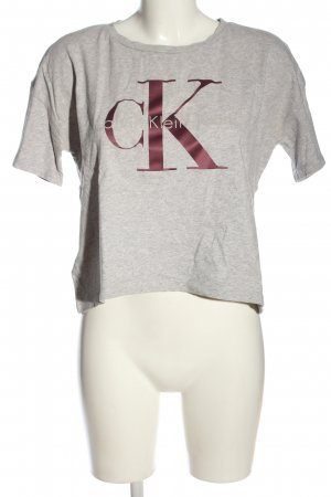 Calvin Klein Jeans Cropped Shirt light grey flecked casual look