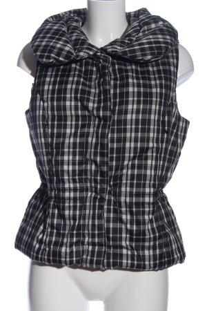 Calvin Klein Jeans Gilet en duvet noir-crème motif à carreaux