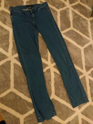 Calvin Klein Jeans Jeansy z prostymi nogawkami niebieski