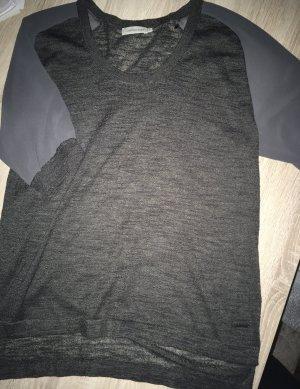 Calvin Klein Jeans Feinstrick-Shirt mit Chiffonärmel -anthrazit-