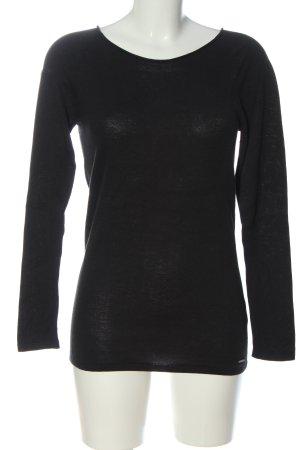 Calvin Klein Jeans Cienki sweter z dzianiny czarny W stylu casual