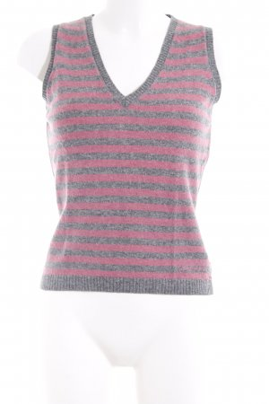 Calvin Klein Jeans Cardigan en maille fine gris-rose motif rayé